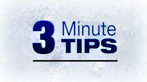 3 Minute Tip Training