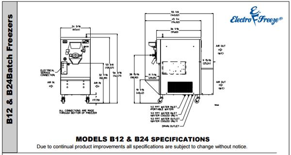 B24 Batch Freezer
