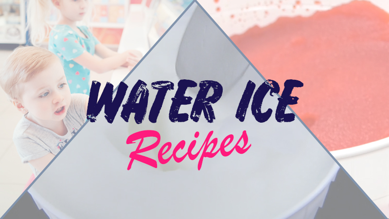 water ice recipes