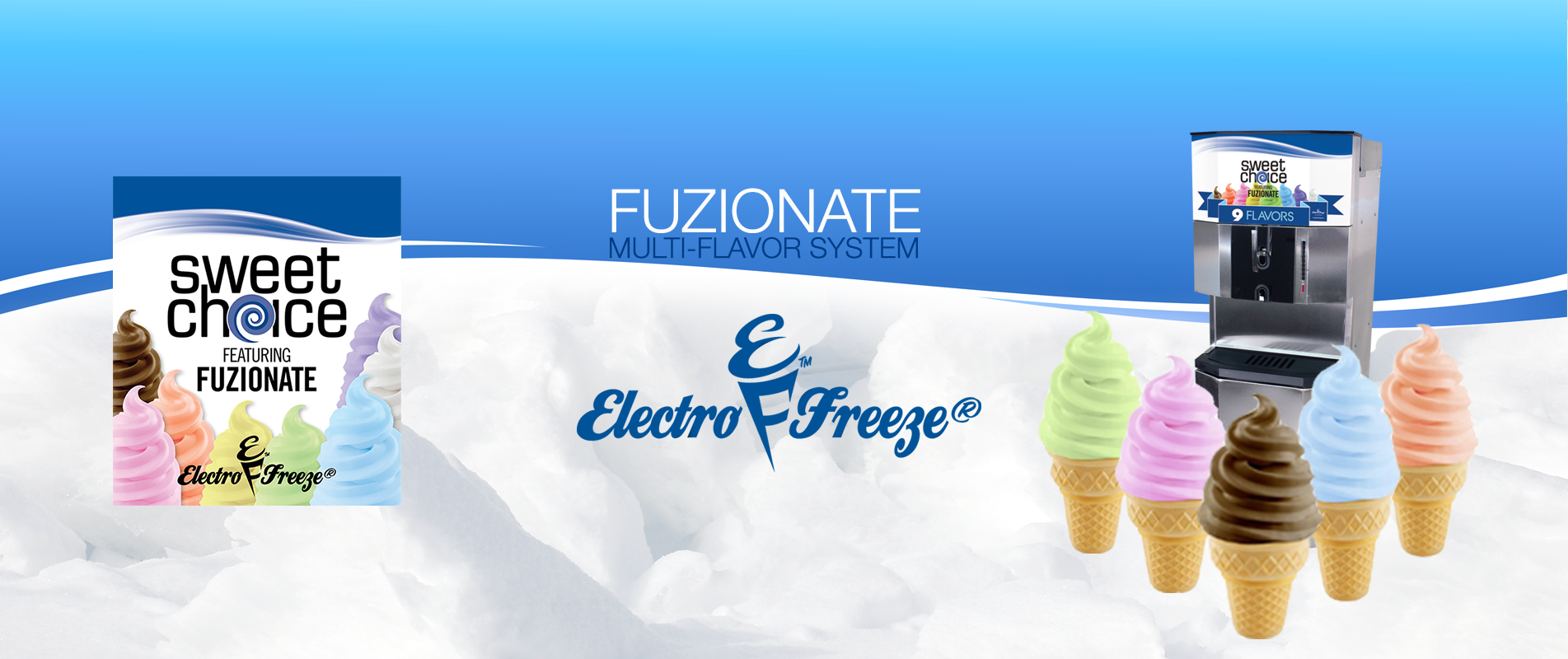Electro Freeze Fuzionate Multi Flavor System